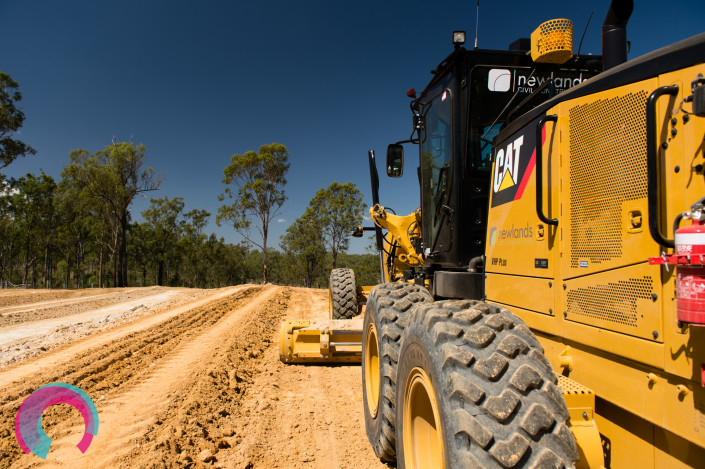Grader working on preparing road base in South Eastern Queensland