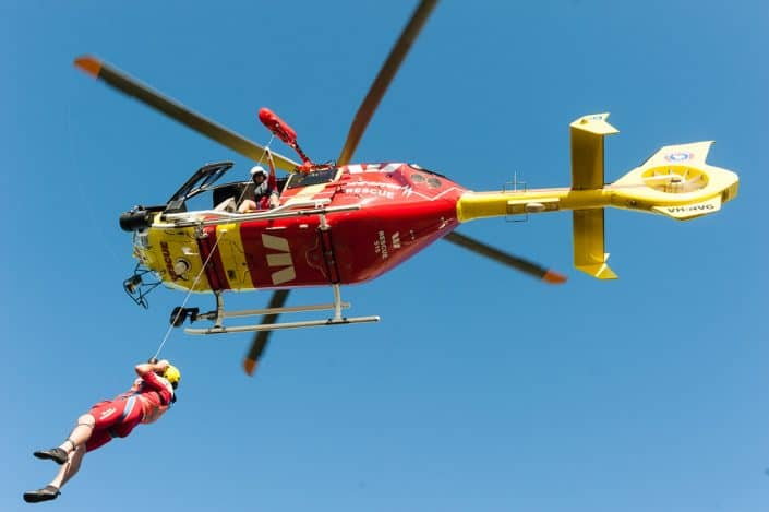Westpac Surf Lifesaving Rescue Helicopter QLD